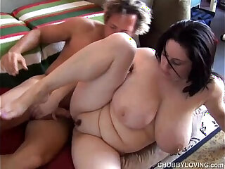 Beautiful busty brunette is a very hot fuck