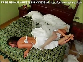 Newly married bridesmaid catfight so hot