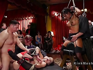 Several babes got punished at orgy party