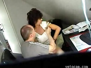 Video from hidden cam mature fucked deep and hard at office table