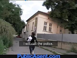 PublicAgent Hot brunette teen gets fucked in my car