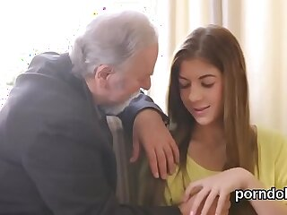 Cuddly college girl gets tempted and banged by her older schoolteacher