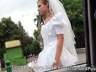 Sexy bride Amirah gets pussy banged by a big cock stranger