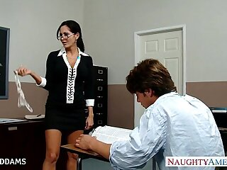 Teacher in glasses Ava Addams gets tits and fucked