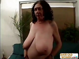 BBW granny gets it rough on the couch