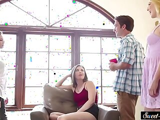 Gorgeous stepsister pounded by stepbrother