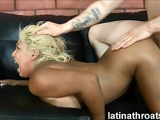 Extreme throat fucking and pounding for Desiree Lopez