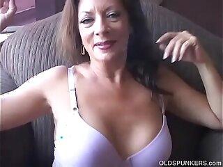 Super sexy old spunker enjoys a smoke break and a nice little wank