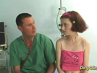 busty redhead teen gets fucked by her doctor