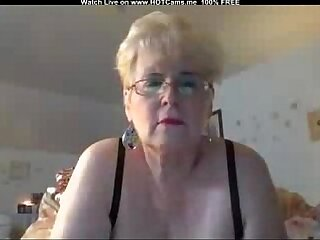 Busty amateur Blonde With Glasses Masturbate