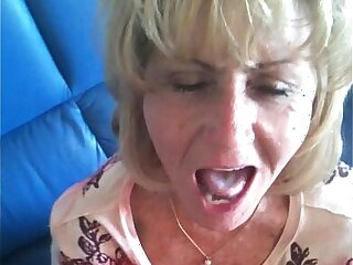Older Neighbor Loves to Swallow Younger Cum!