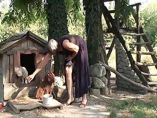 Slutty hairy granny Viviana fucks under the tree Kata viviana malvira