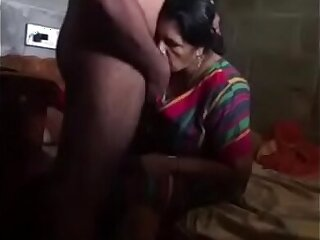 Indian old aunty with her husband and gets fucked by brother.