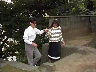 Asian teen couple having sex with her boyfriend