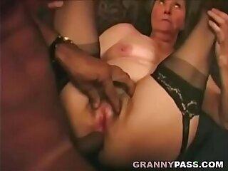Interracial Granny Anal