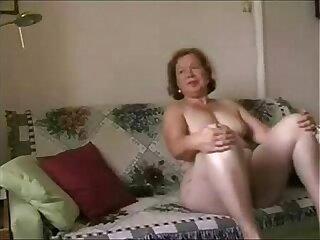 Enjoy my busty wife. Amateur older