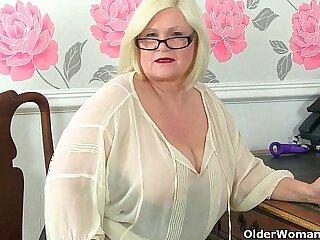 British granny secretaries stripping off