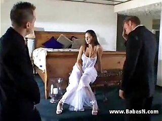 Bride hardcore threesome