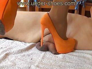 Miss Katarina extreme orange high heels cm savagery