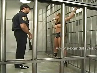 Naked blonde slave spanking outdoor then fucking in rough humiliation video