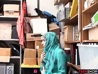 Arab teen shoplifter caught and fucked by security