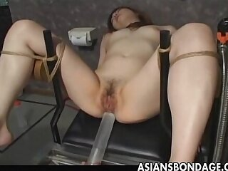 Japanese slave gets wet pussy filled by cum