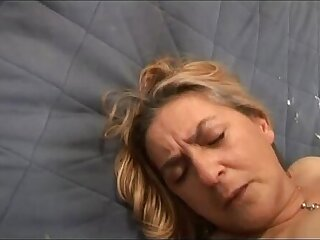 Mature chunky blonde abused after a big row!