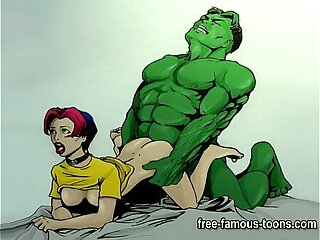 Famous cartoon porn parody
