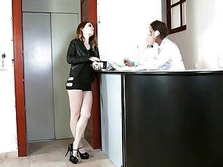 Teen escort Misha Cross bribes security with face fucking