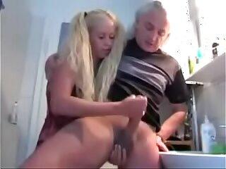 She Milks Big Dick Grandpa More