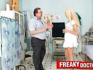 Beautiful czech blonde Angel Wicky funny vagina exam